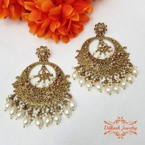 Bollywood Polki Earrings Deepika Padukone